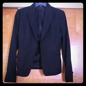 Elie Tahari pinstripe black blazer